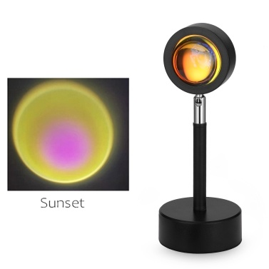 LED Sunset Projector Home Night Light USB Table Lamp