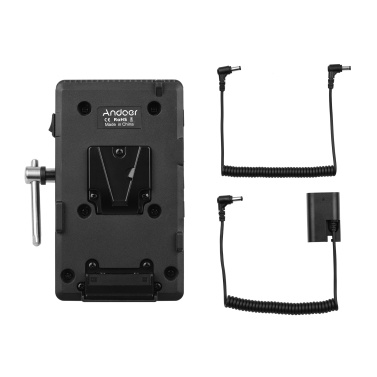 Andoer V Mount V-lock Battery Plate Adapter with Super Clamp Crab Pliers Clip  NP-FZ100 Dummy Battery Replacement for Sony A7Ⅲ A7RⅢ A9 A7R Ⅳ A6600 Camera Video Light Monitor Audio Recorder Microphone