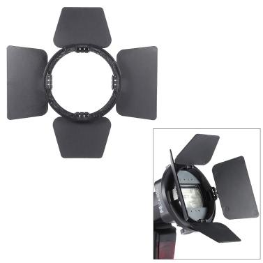 SGA-BD4 Four-leaf Speedlite Flash Light Photography Barndoor Accessory for Nikon Canon Yongnuo Godox Sigma Andoer Neewer Vivitar Speedlight Universal Mount