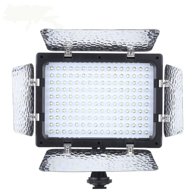 Andoer W160 Video Photography Light Lamp Panel 6000K 160 LEDs Canon Nikon Pentax Sony (Alpha) Olympus Fujifilm DSLR Camera DV Camcorder