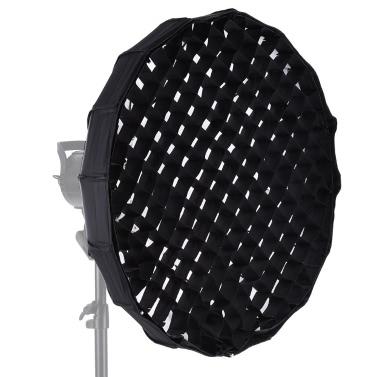 16-Pole 60cm zusammenklappbaren Beauty Dish Softbox mit Wabe Bowens Einfassung für Studio Strobe-Blitz-Licht