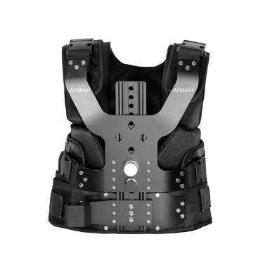 Andoer B200-C1 Pro Video Studio Fotografie Aluminiumlegierung Last Vest Rig 16mm Einzel Damping Armauflage Schulterstabilisierung für Steadycam Handstabilisator DSLR-Kamera Camcorder Film-Film machen Tragkraftt 5-8kg / 11-17.6Lbs