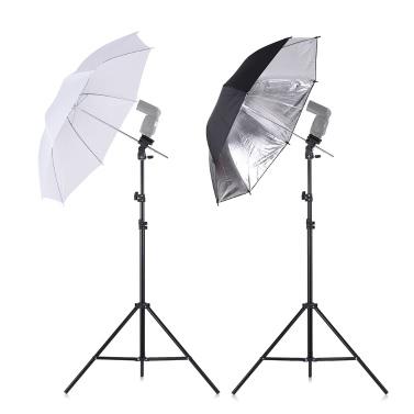Andoer Off Camera Double Speedlight Flash Shoe Mount Swivel Soft Umbrella Kit____Tomtop____https://www.tomtop.com/p-d4624.html____
