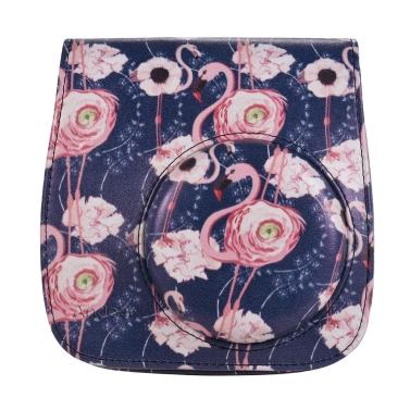 Andoer Kameratasche Tasche mit Trageriemen für Fujifilm Instax Mini 9/8 + / 8s / 8 Flamingo