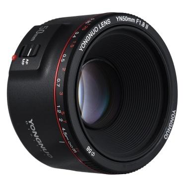 43% OFF YONGNUO YN50mm F1.8 II Standard Prime Lens,limited offer $74.99