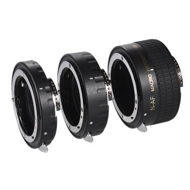 Autofokus-Makroverlängerungs-Schlauch-Satz-kupfern AF-Makroobjektiv-Verlängerungs-Rohr-Ring mit Abdeckungen für Nikon D300 D7000 D7100 D7200 D800 D810 D850 D5500 D5600 D5100 D5300 D3300AL Objektive