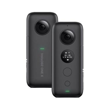 Insta360 ONE X FlowState Stabilisierungs-Panorama-Action-Kamera 5.7K Video 18MP Foto 6-Achsen-Gyroskop-APP Bearbeitung 360 ° Live-Streaming TimeShift HDR für iPhone XS XS XS Max 8 7s Plus 6 für iPad Pro für iPad 2018 für Samsung Xiaomi Weitere Smartphones