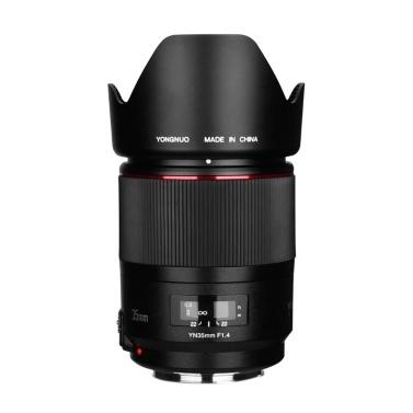 YONGNUO YN35mm F1.4 Helle Blende Standard-Weitwinkelobjektiv Vollformat AF MF DSLR-Kameraobjektiv für 67 mm-Filter für Canon 5DII D5III 5DIV 5DSR 6D 7D 6DII 7DII 60D 70D 80D 750D 800D DSLR-Kameras