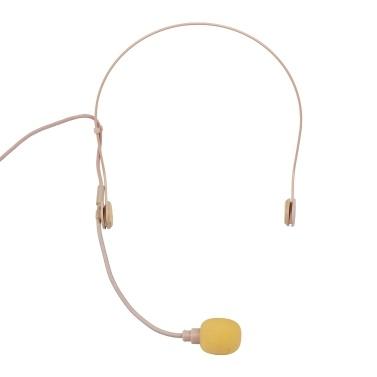 Gute Qualität Headset Mikrofon Kondensator Mikrofon 3,5 mm rechtwinklige Schnittstelle für drahtlose Bodypack-Sender