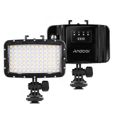 Wiederaufladbare Sportkamera Andoer W84 Tauchlampe 50 m wasserdichte DSLR-Kamera LED-Videolampe Einfülllampe