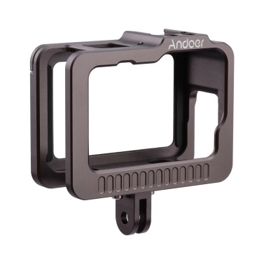Andoer Camera Cage Camera Housing Case with Removable Back Door Double Cold Shoes