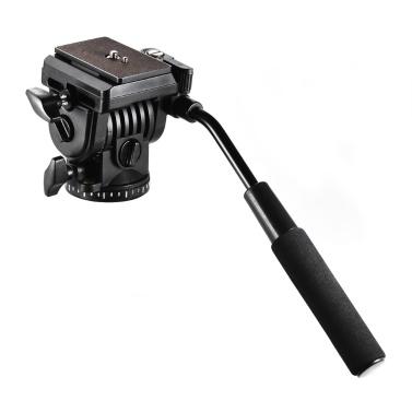 Andoer ABS 360 ° Fluid Drag Video Aktion Kopf Panorama Hydraulische Dämpfung Fotografische Kopf für Canon Nikon Sony DSLR Kamera Camcorder für Stativ Monopod Slider Shooting Filmen