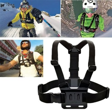 Three-piece Suit Adjustable Action For Gopro Camera Chest Strap Headband Floating Hand Grip Accessories Headstrap Professiona Mount Tripod Helmet Sport