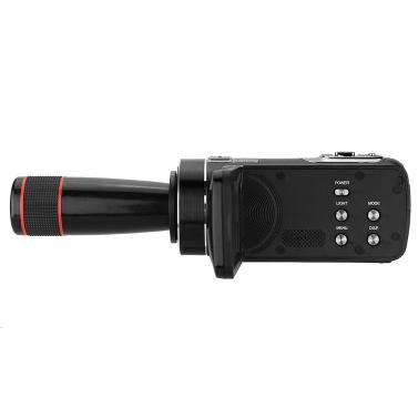 Andoer HDV-Z8 PLUS 1080P 30fps FHD 24MP Vídeo Camcorder Digital