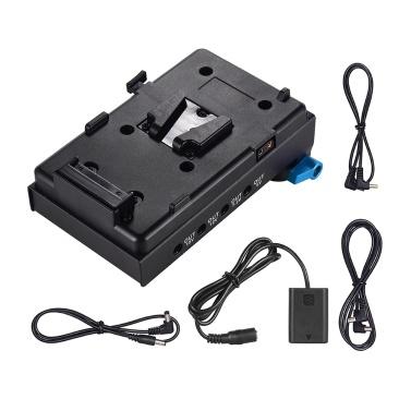 Andoer V-Lock V-Lock-Batterieplattenadapter mit 15-mm-Doppelloch-Klemmhalterung NP-FW50 Dummy-Akkuadapter für BMCC BMPCC Sony A7 A7S A7 A7 II A7 II A7 II A7 III A7 III A7 III A7 III für Monitor Audio Recorder Mikrofon Frequenzteiler