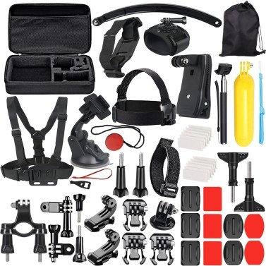 51 In 1 Basic Sports Action Camera Zubehör-Kit-Set