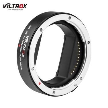 Viltrox DG-GFX 18-mm-Adapterring für automatische elektronische Makro-Verlängerungsrohre TTL-Autofokus AF AE-Modus für GFX-Objektive für Fuji Fujifilm G-Mount-Mittelformatobjektive für Fuji Fujifilm G-Mount-GFX-Mittelformatkameras