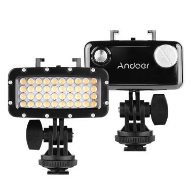 Andoer W40 Sportkamera Tauchlicht 50m wasserdichte DSLR-Kamera LED-Videolampe Einfülllampe