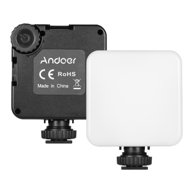 Andoer KM-72A Mini Dimmbares RGB-LED-Videolicht 6W Farbfülllicht