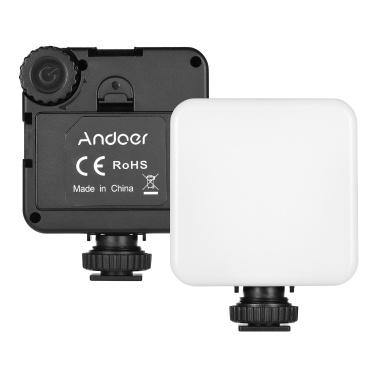 Andoer KM-72B Mini-LED-Videolicht RGB-Farb-Multifunktions-LED-Einfülllicht für die Kamera