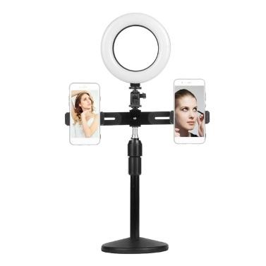 6-Zoll-Mini-LED-Video-Ringlichtlampe dimmbar 3 Beleuchtungsmodi USB-betrieben