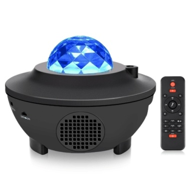 LED Star Projection Lamp Sound Activated Music Starry Projector Light RGBW Stage Lighting Lamp