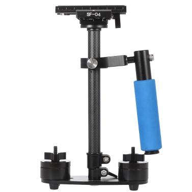 Carbon Fiber Mini Handheld Handle Grip Video Camera Stabilizer Quick Release Plate Canon Nikon Sony Pentax DSLR Camcorder DV