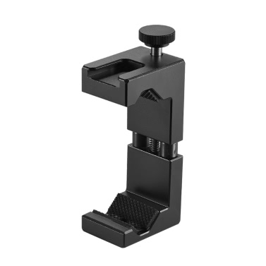 """Ulanzi Adjustable Smartphone Clip Holder Clamp Bracket Aluminum Alloy with Cold Shoe Mount 1/4"""" Screw Hole for iPhone 7 7 Plus 6 6s 6 Plus"""
