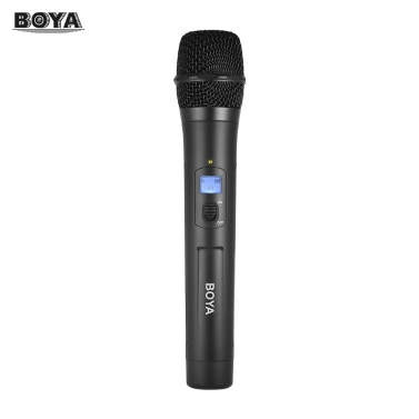 BOYA BY-WHM8 UHF Wireless Handheld Microphone Dynamic Mic with 48UHF Channels Work with BY-WM8 /BY-WM6 Receiver for Karaoke Interview Meeting Audio Recording Stage Singing