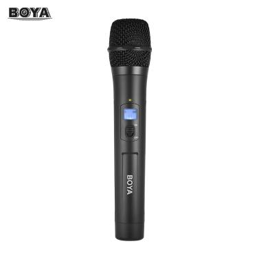 BOYA BY-WHM8 Microphone de poche sans fil UHF Microphone dynamique avec canaux 48UHF Travailler avec BY-WM8 / BY-WM6 Récepteur pour Karaoke Interview Réunion Audio Recording Stage Chant