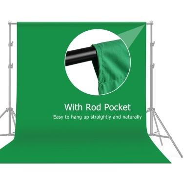 3 * 3m / 10 * 10ft Professioneller Green Screen Hintergrund Studio Fotografie Hintergrund