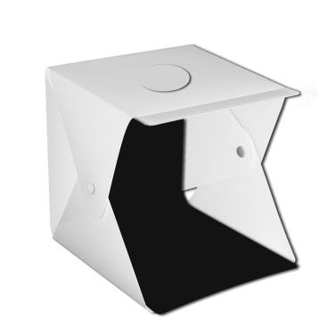 Multifunctional 0.4m LED Light Soft Box Set Double light strip 2 color background cloth