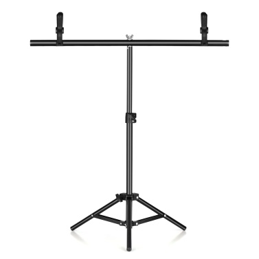 75cm*70cm Portable T-shaped Metal Photography Background Backdrop Stand Metal Bracket Support System