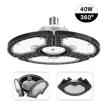 LED-Garagenleuchten Verformbare LED-Deckenleuchten CRI80 LED-Lampe mit 3 verstellbaren Paneelen