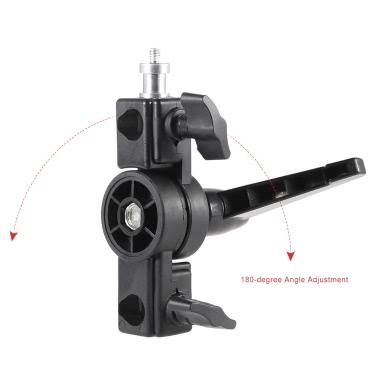 Swivel Adapter Speedlite Flash LED Light Stand Bracket Holder