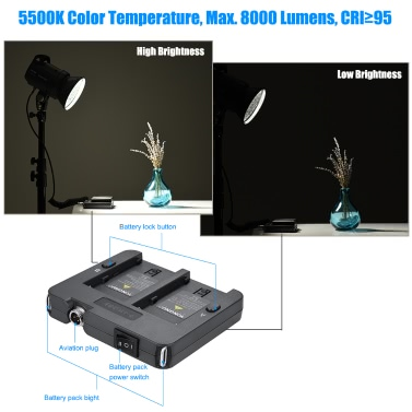 YONGNUO YN760 LED Studio Lightp 5500K 8000LM CRI>95 with Remote Controller for Camera Camcorder
