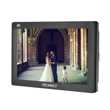 "Feelworld FH7 7 ""IPS LCD 1920 * 1200 Full HD On-Kamera Monitor Display Unterstützung 4K HD Eingang Ausgang 1200: 1 Kontrast 450cd / ㎡ Helligkeit 160 ° Weitwinkel für Canon Nikon Sony DSLR Video Studio"