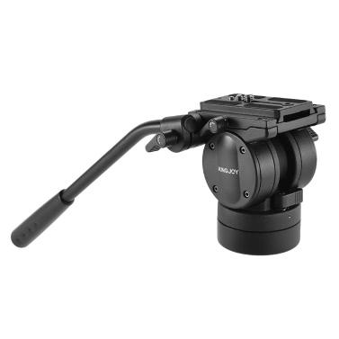 KINGJOY VT-2510 Video Flüssigkeitskopf Hydraulischer Dämpfungsstativ Kugelkopf
