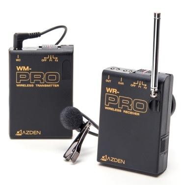 AZDEN WLX-Pro / 1 Professionelle VHF Wireless Revers Mikrofon System Standard Ausgestattet für Netzwerk Anchor DSLR ILDC Kamera Videoaufnahme Nachrichten Interview Lehrsystem Training für Sony 190P 150 P 250 P 390 P für Panasonic 700 P 330 P 180 P für BMCC BMPC