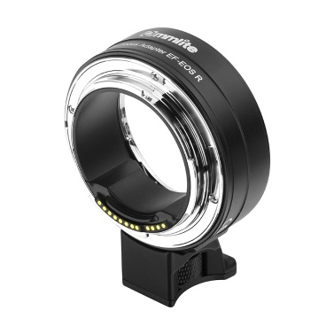 Commlite CM-EF-EOS R Lens Mount Adapter Electronic Auto Focus Mount Adapter IS Function Aperture Control Canon EF/EF-S Lens Fit Canon EOS R RF-Mount Full Frame Camera
