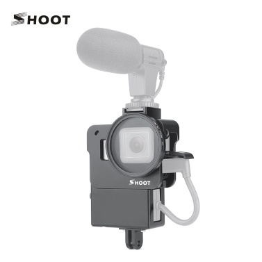 SHOOT XTGP539 CNC Aluminum Alloy Action Camera Vlogging Cage