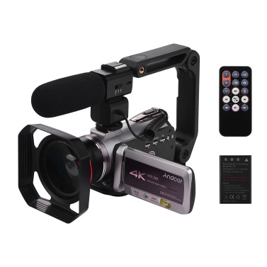 Andoer HDV-AZ50 Portable Real 4K 30FPS WiFi Digital Video Camera Camcorder