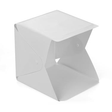Tragbares DIY LED Studio Light Box 6000K Mini faltbares Fotografiezelt mit schwarz-weißem Hintergrund USB-Netzteil