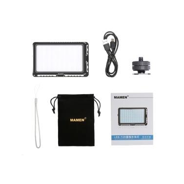MAMEN LED-72R Kompakte RGB-Vollfarb-LED-Videolampe