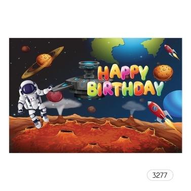 7 * 5ft alles Gute zum Geburtstag Cartoon Hintergrund Baby-Dusche Kind Geburtstag Fotografie Hintergrund