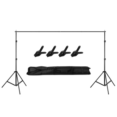 2M * 3 Meters Backdrop Support Stand Adjustable Photography Studio Background Frame Support System Kit