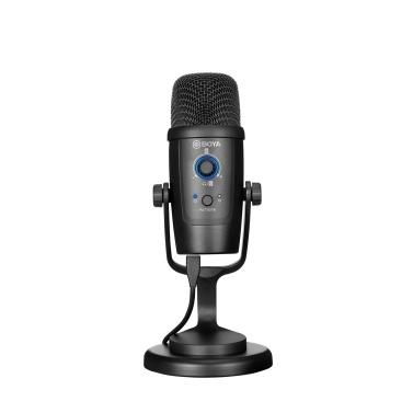 BOYA BY-PM500 USB-Mikrofon Mikrofon Niere / omnidirektionale Aufnahmemuster Muting-Funktion 3,5-mm-Kopfhöreranschluss