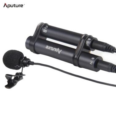 Aputure A.lav Professional Lavalier Microphone omnidirectionnel avec pare-brise Clip Style pour enregistreur PC DSLR caméra vidéo caméscope Smartphone pour iPhone Samsung iPad etc.