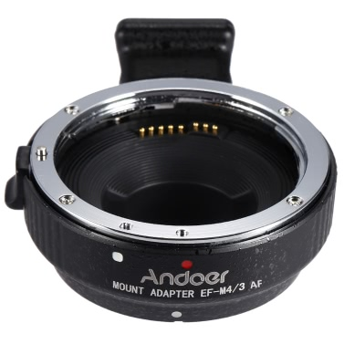 Andoer EF-MFT Auto Focus Electronic Lens Mount Adapter Ring Canon EOS EF/EF-S Lens M4/3 Camera Olympus Panasonic M4/3 Camera