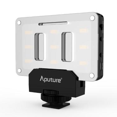 Aputure AL-M9 Amaran Lighting Up Pint-Sized LED Fill Light Mini Video Light with 9 SMD Bulbs TLCI 95+ 9 Steps Adjustable Brightness Ultra-thin Lightweight